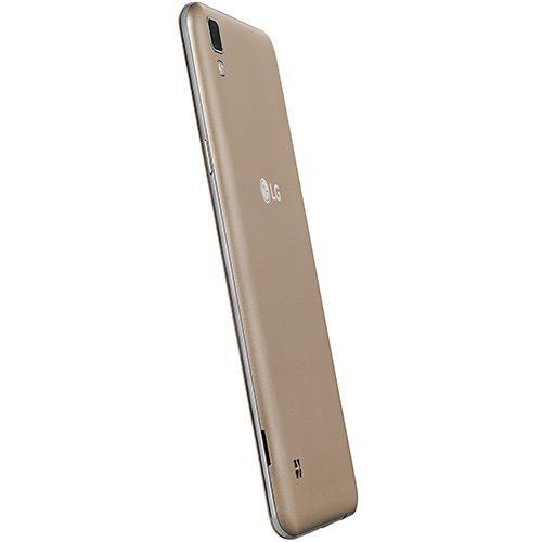 Celular LG X Style K200 Dourado, 4G, Dual Chip, Tela 5'', 16GB, Câmera 8MP e Frontal 5MP, Processador Quad-Core 1.3Ghz, Android 6.0, Desbloqueado