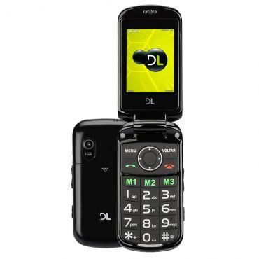 Celular DL YC130 Preto - Tela 2.4