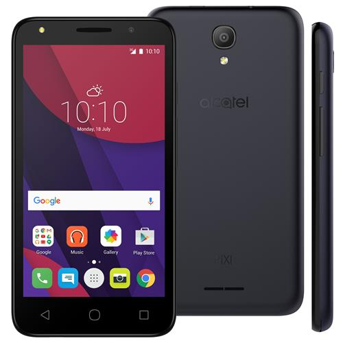 "Smartphone Alcatel Pixi4 5 Light com Tela 5.0"", Câmeras com Flash (8MP+8MP), TV Digital, Quad-Core, 3G, 8GB de Memória, Android 6.0, Dual-Chip"
