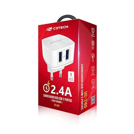 CARREGADOR USB•UC-240WH