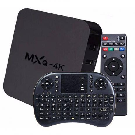 Conversor Smart Tv Uhd 4k Transforma Sua Tv Em Smart Tv Netflix Youtube Internet Android 7.1hdmi e mini teclado touchpad - Mxq