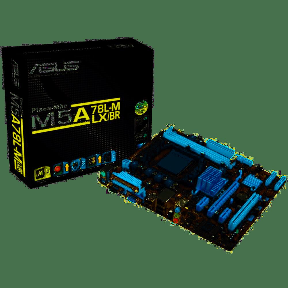KIT Placa Mae Asus M5a78l-M Lx/Br Nacional (Am3/Am3+)+ Processador Fx-6300