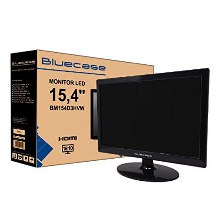 Monitor Led 15,4 Bluecase Hd Hdmi E Vga Bm154d3hvw