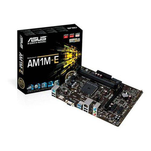 Placa-mãe com soquete AMD AM1 com exclusiva tecnologia 5x Protection