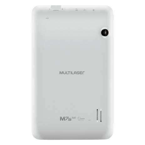 """Tablet Multilaser M7S Branco Quad Core Android 4.4 Kit Kat Dual Câmera Wi-Fi Tela Capacitiva 7"""" Memória 8GB"""