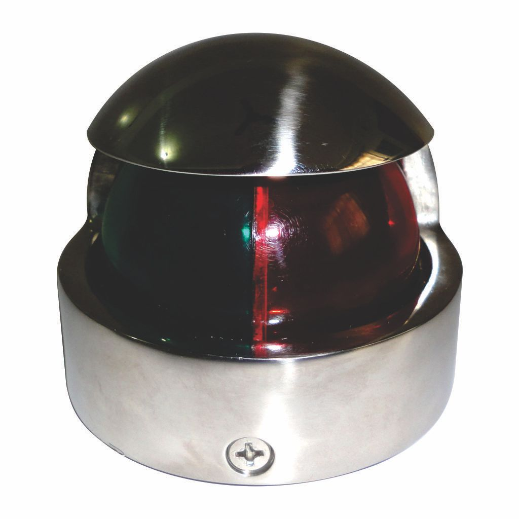 Luz de navegação de proa bombordo/boreste aço inox