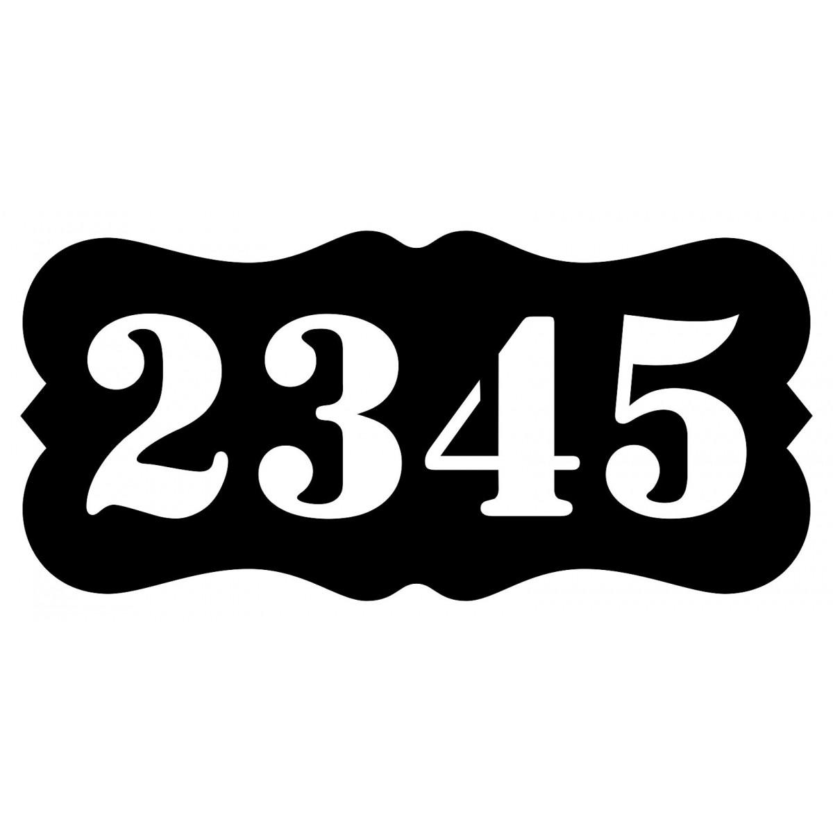 Número Residencial Casa Comercio Placa 2 Algarismos
