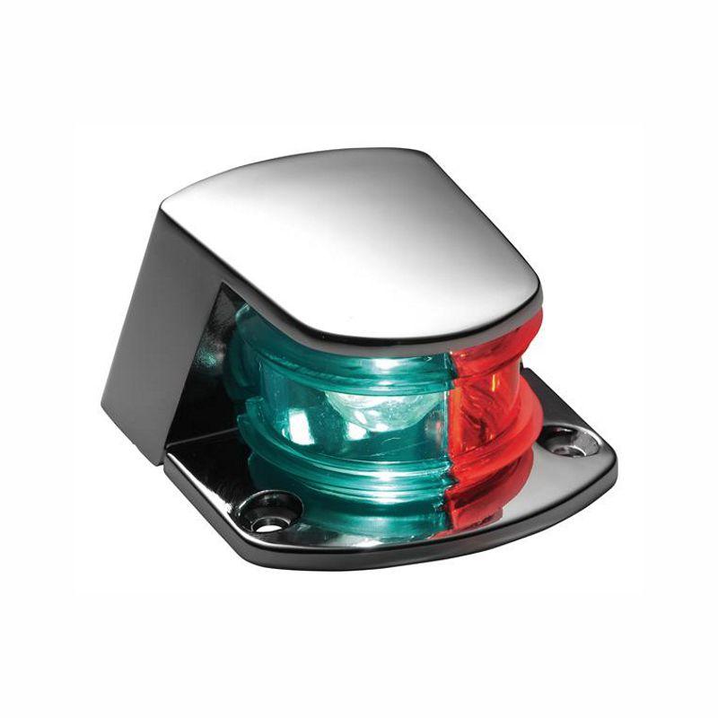 Luz de navegação de proa bombordo/boreste zamac cromado