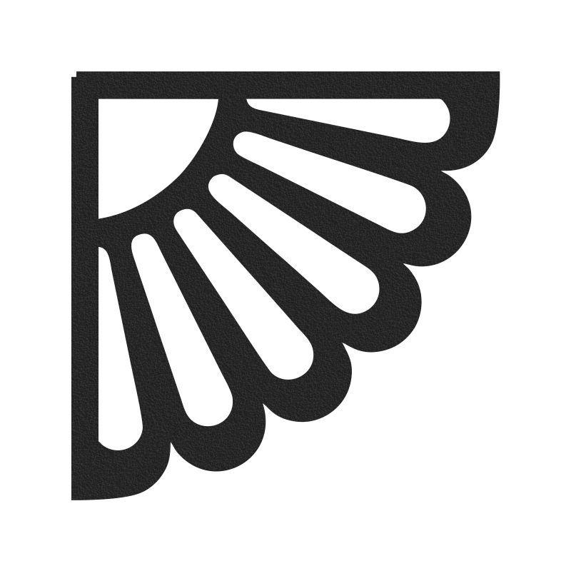 Cantoneira Mão Francesa Aço 25 cm x 25 cm Preta