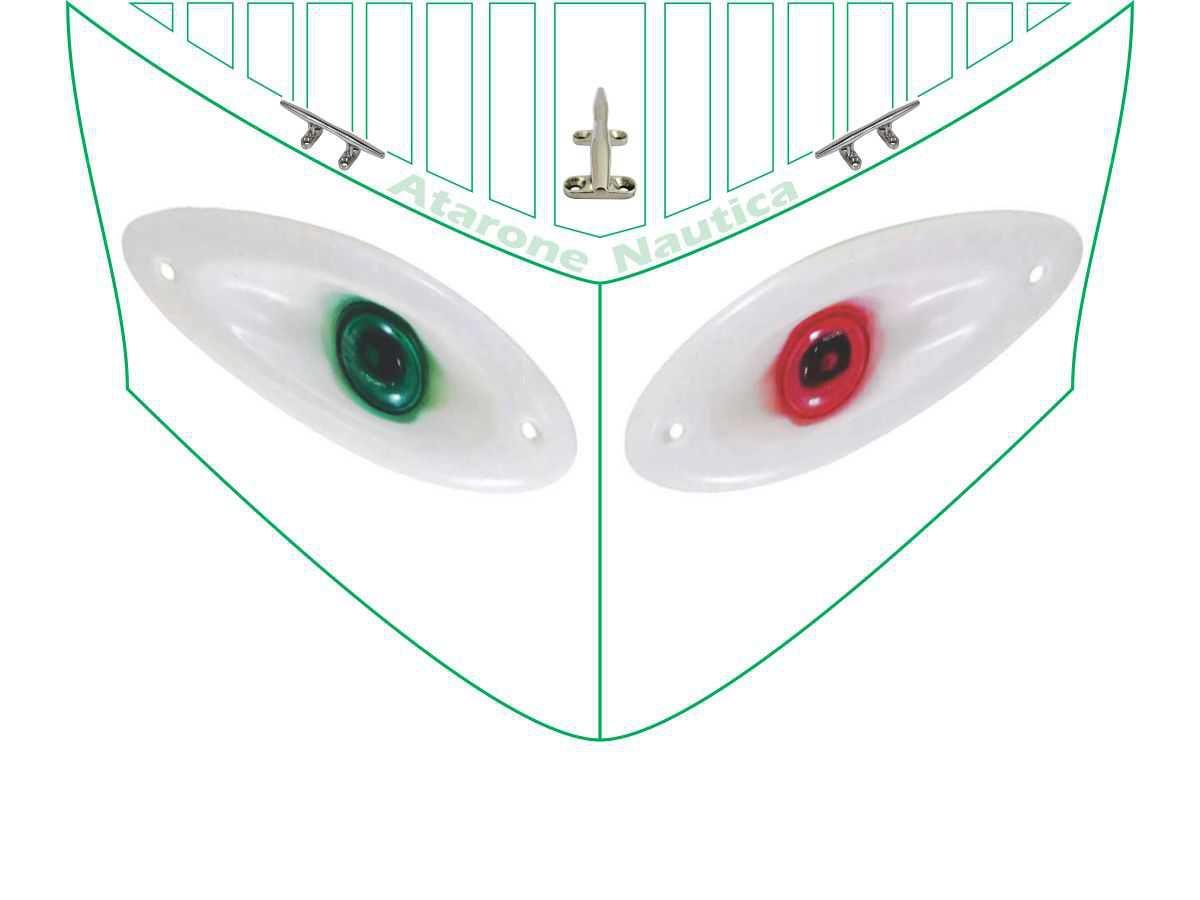 Luz de Navegação Olho de Tubarão LED BB BE Plastico Branca