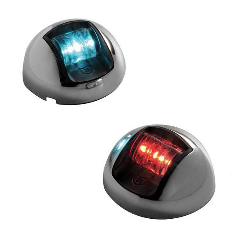 Luz De Navegação Proa LED Bicolor Par BB BE Nylon Aço Inox