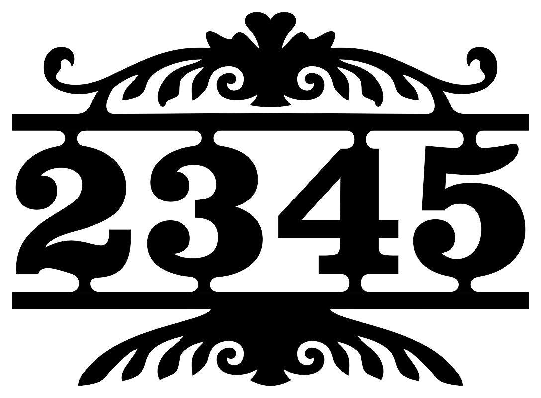 Número Residencial Casa Comercio Moldura 4 Algarismos