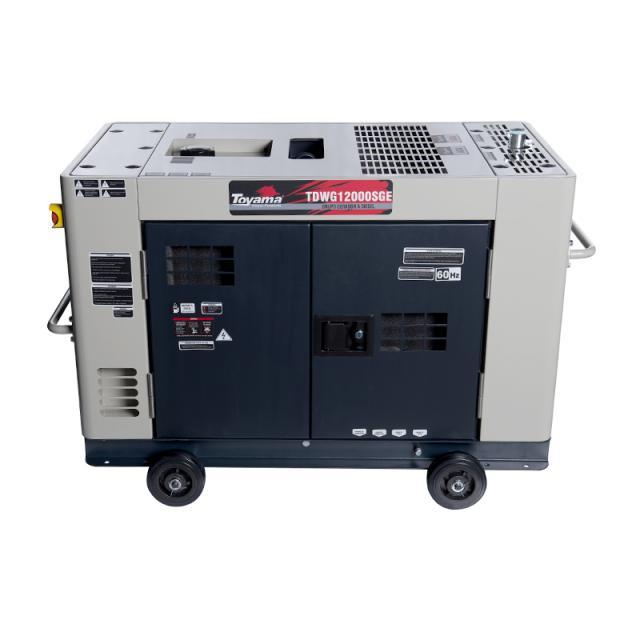 Gerador de energia a Diesel 380V Trifásico 12,6 KVA, Partida Elétrica, Silenciado - TDWG12000SGE3 - Toyama