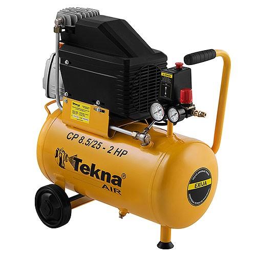 COMPRESSOR DE AR TEKNA 220V/60HZ 24L MOTOR ELETRICO 2HP 219L/MIN MAX 116 PSI