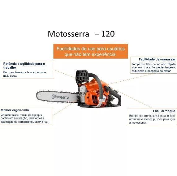 MOTOSSERRA HUSQVARNA 120 35CC  SABRE 14 26D