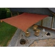 Toldo Tela de Sombreamento 4x4 m Quadrada Residencial / Comercial Marrom Sombralux