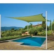 Toldo Tela de Sombreamento 2x2 m Quadrada Residencial / Comercial Verde Sombralux