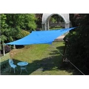 Toldo Tela de Sombreamento 2x2 m Quadrada Residencial / Comercial Azul Sombralux
