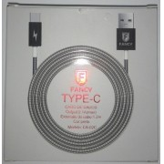 CABO USB METALICO 2.1A TYPE C MOD CA-02C 1,2M FANCY