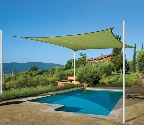 Toldo Tela de Sombreamento 4x2 m Retangular Residencial / Comercial Verde Sombralux
