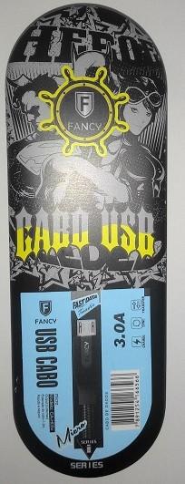 CABO USB TECIDO SMARTPHONE 3.0A MICRO (V8) MOD CA-H05V 1,2M FANCY