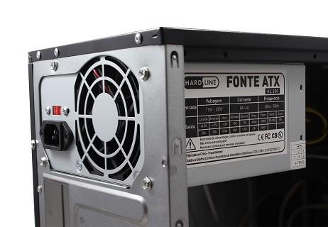 GAB - PRETO - 2 BAIAS - W8 + FONTE 200W - HARDLINE