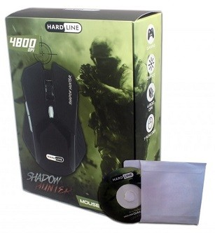 MOUSE OPTICO GAMER ate 4800 DPI USB BOX SHADOW HUNTER