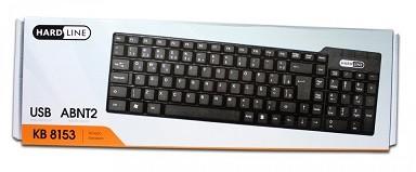 TECLADO - PRETO - USB - BASICO - KB-8153 - HARDLINE