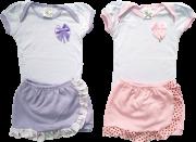 Conjunto Feminino Bebe Shorts Saia (Unidade)