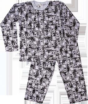 Pijama Manga Longa Estampado