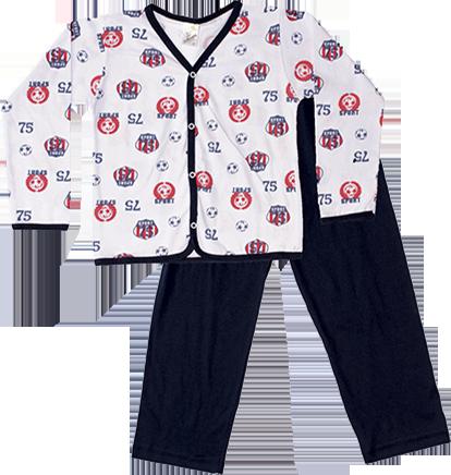 Pijama Manga Longa Aberto