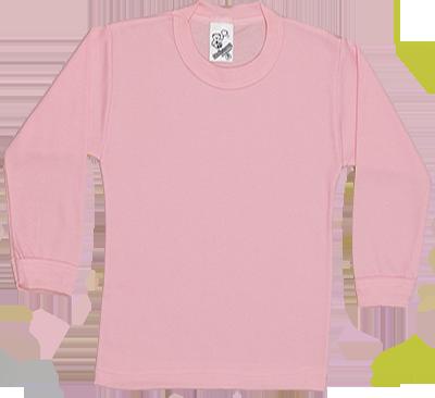 Camiseta Manga Longa Suedine Canelado