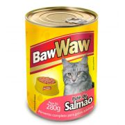 Patê enlatado sabor Salmão  para Gatos 280g - BAW WAW