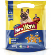 Biscoito Mini P/ Cães Raças Pequenas - Caixa C/10 Unidades de 500g - Baw Waw