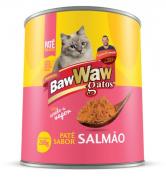 Patê Enlatado P/Gatos Sabor Salmão 280g - Caixa C/12 Unidades - BAW WAW