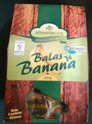 BALA DE BANANA ORGÂNICA -  Alimentar - 150g
