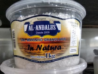 SAL IN NATURA MARINHO GRANULADO INTEGRAL KG - AL ANDALUS