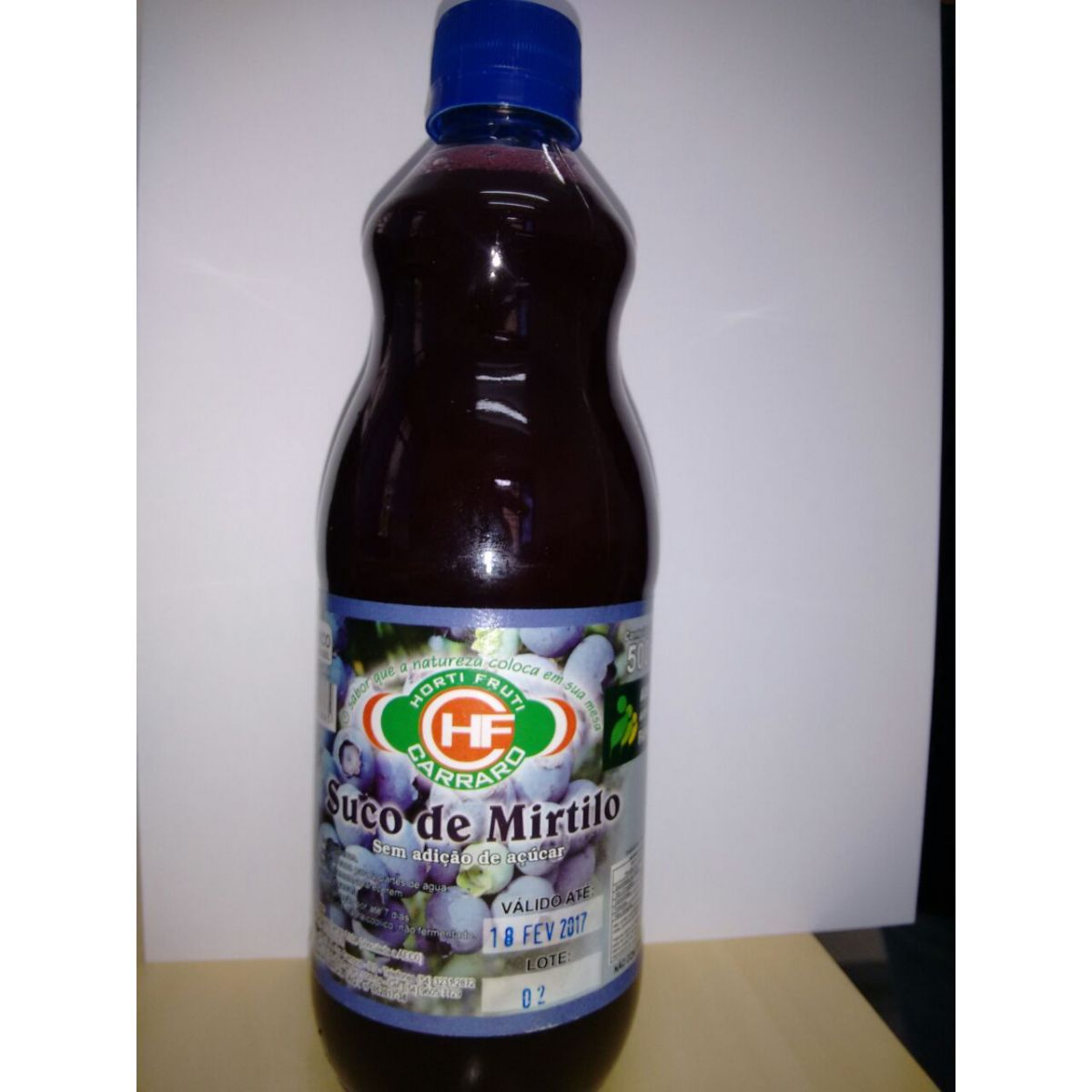 Suco de Mirtilo Sem Açucar Carraro - 500ml