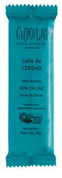 Chocolate Orgânico ao Leite com Cereais - 20g