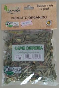 CAPIM CIDREIRA ORGANICO QUINTAL VERDE 10g