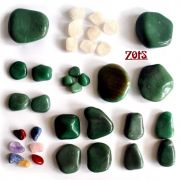 Kit 35 Pedras Quentes Quartzo Verde
