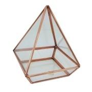 Terrário Pirâmide em cobre Base Quadrada G