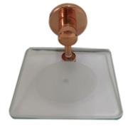 Saboneteira de vidro e cobre