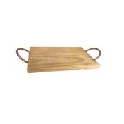 Tabua com alças madeira clara