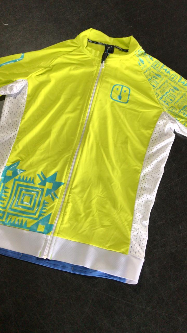 Camisa Ciclismo Racing Warrior Lima - Masculina