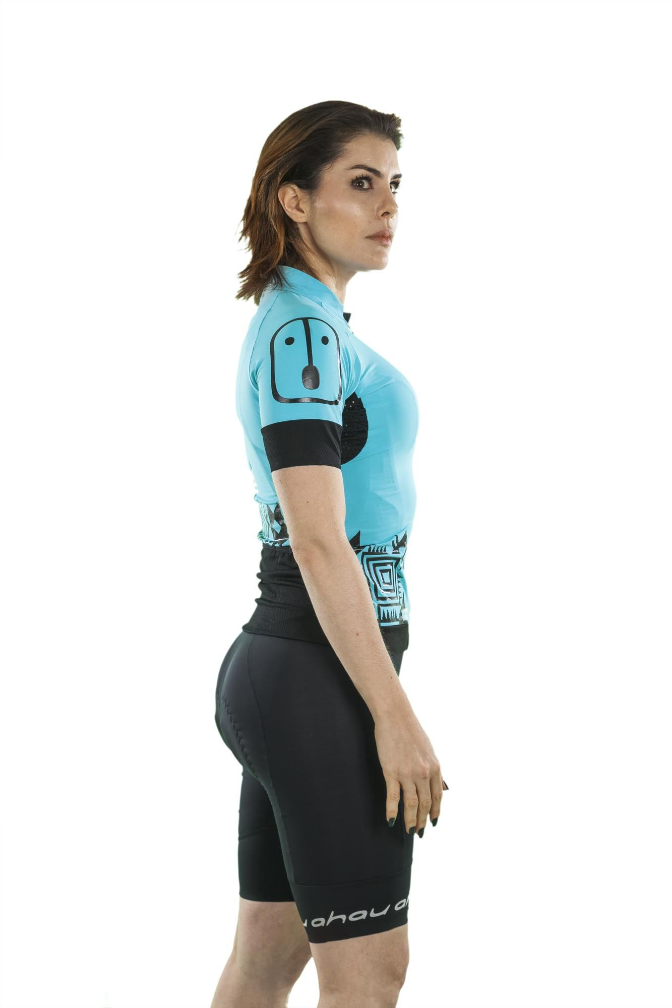 Camisa Ciclismo Racing Warrior Sky - Feminina