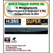 NVR 8 Canais 4 Megapixels h.265