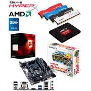 PC Gamer High AMD FX 8-Core 8320e Placa Mãe GA-78lmt-USB3 Memória 8gb Kingston Hyperx Fury HD SSD Amd 120gb Gabinete Preto Básico