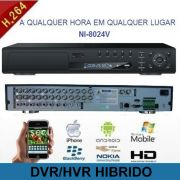 Gravador Digital / DVR/HVR 24 Canais Com Frente Digital Hibrido