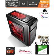 Computador Amd FX-8300 3.3Ghz Base / 4.2Ghz Turbo - Asrock N68-GS4 FX R2.0 - Memória DDR3 4gb + Hd SSD 120Gb + Acessórios
